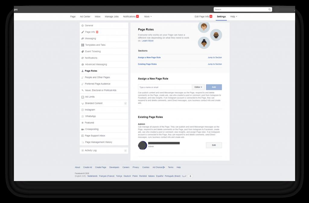 Je kan verschillende rollen geven aan personen in een ad account via de Facebook Ads Manager.