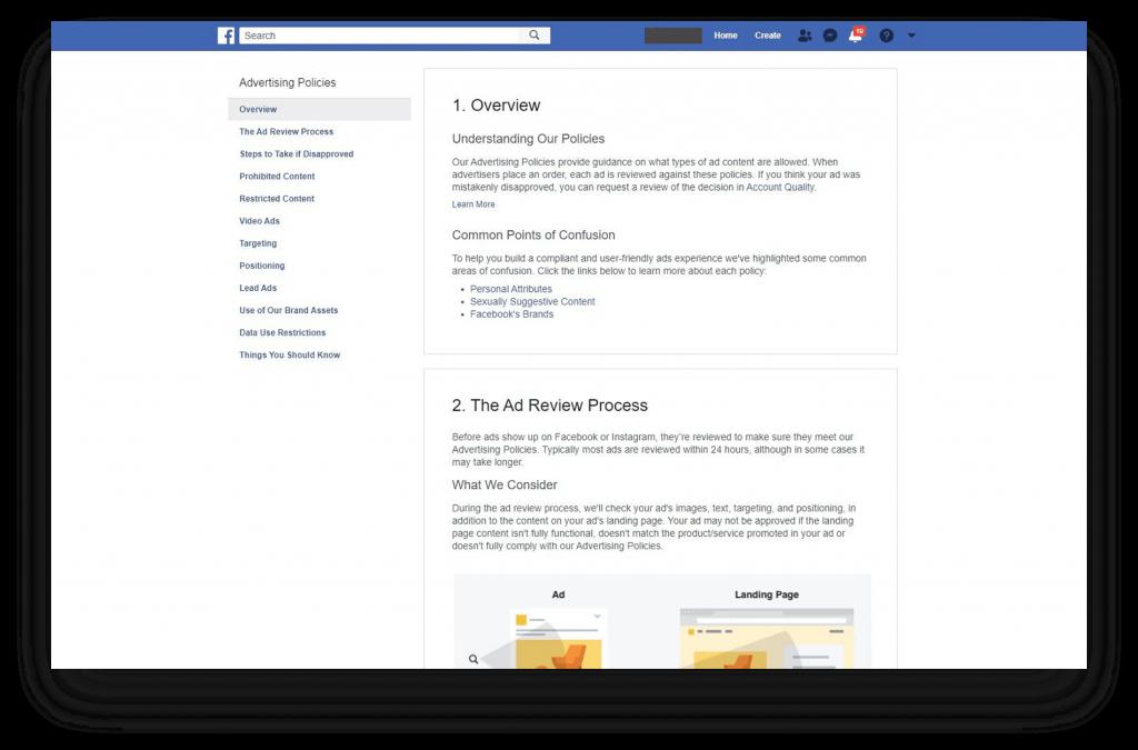 Je kan de richtlijnen altijd nalezen wanneer je Facebook Advertentie is afgekeurd.