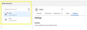 data sources facebook pixel