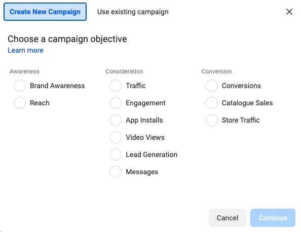 Nieuwe campagne facebook advertentie